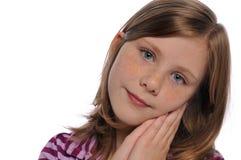 flicka little stående s arkivfoto