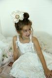 flicka little tappning Royaltyfria Foton