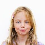 flicka little tystnad arkivbild