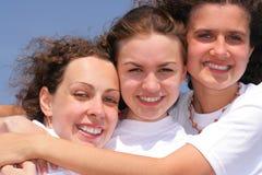 flicka lyckliga tre Arkivbild