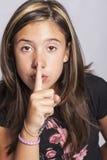 Flicka med aktiva uttryck Arkivbilder