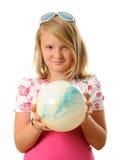 Flicka med bollen Arkivfoton