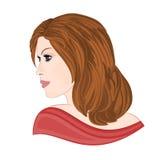 Flicka med brunt hår Arkivbilder