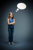 Flicka med bubblor Arkivbild