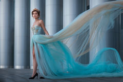Flicka med den framkallande klänningen Royaltyfri Fotografi