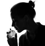 Flicka med doft arkivbilder