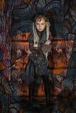 Flicka med dreadlocks royaltyfria bilder