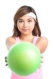 Flicka med en boll Royaltyfri Fotografi