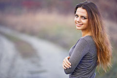 Flicka med ett ärr Arkivfoton