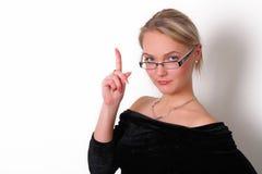 Flicka med exponeringsglas Royaltyfri Fotografi