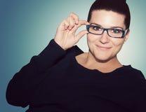Flicka med exponeringsglas Royaltyfria Foton