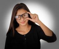 Flicka med exponeringsglas Royaltyfri Bild