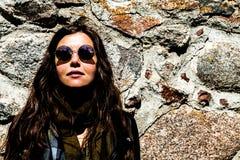 Flicka med exponeringsglas Nr 4 Fotografering för Bildbyråer