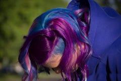 Flicka med extremt hår Fotografering för Bildbyråer