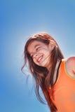 Flicka med fräknar Royaltyfria Bilder