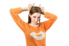 Flicka med horns arkivfoton