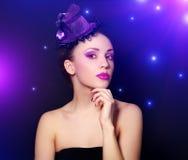 Flicka med härligt smink Royaltyfri Foto