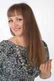 Flicka med långt hår Arkivbild