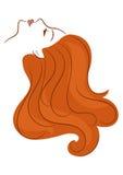 Flicka med långt hår Arkivfoton
