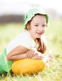Flicka med melonen Royaltyfria Foton