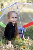 Flicka med paraplyet Royaltyfria Foton