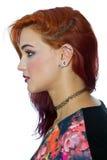 Flicka med piercingar royaltyfri bild