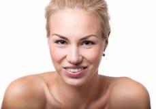 Flicka med toothy leende Arkivfoton