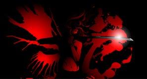 Flicka med vingar av blod Arkivfoton