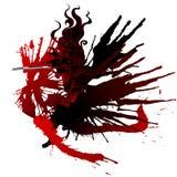 Flicka med vingar av blod Arkivfoto