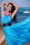 flicka nära havet Royaltyfria Foton