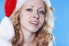 flicka nätt santa Fotografering för Bildbyråer