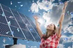 Flicka och energi Fotografering för Bildbyråer