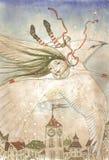 Fritt flyg Arkivbild
