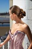 Flicka och fantastisk sikt Royaltyfria Foton