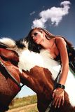 Flicka och häst Royaltyfri Foto