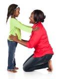 Flicka och moder Arkivfoton