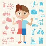 Flicka och pojke Arkivbilder
