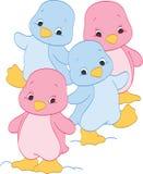 Flicka- och pojkepingvin Royaltyfri Foto