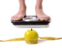 Flicka- och viktförlust arkivfoton