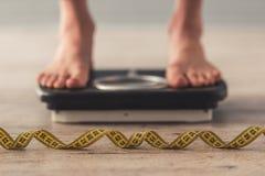 Flicka- och viktförlust fotografering för bildbyråer