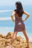 Flicka på det döda havet Fotografering för Bildbyråer