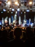 Flicka på en konsert Royaltyfria Bilder