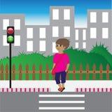 Flicka på gatan Fotografering för Bildbyråer