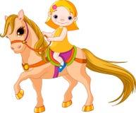 Flicka på häst Royaltyfria Foton