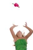 Flicka på räckvidden för förälskelse Arkivfoto