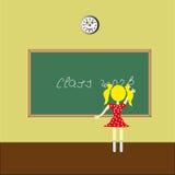 Flicka på skolförvaltningen Royaltyfria Bilder