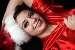 flicka sexiga santa fotografering för bildbyråer