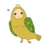 Flicka Sirin Mytologisk fågel Rysk folklore Arkivbild