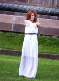 Flicka Smilling Royaltyfri Bild
