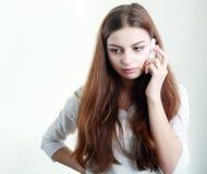 Flicka som får dåliga nyheter Royaltyfri Bild